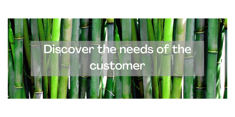 1. Understand the needs of the customer
